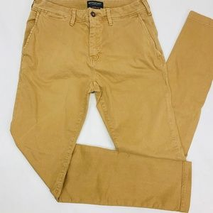 American Eagle Mens Jeans 32 x 34 Tan Gold Skinny